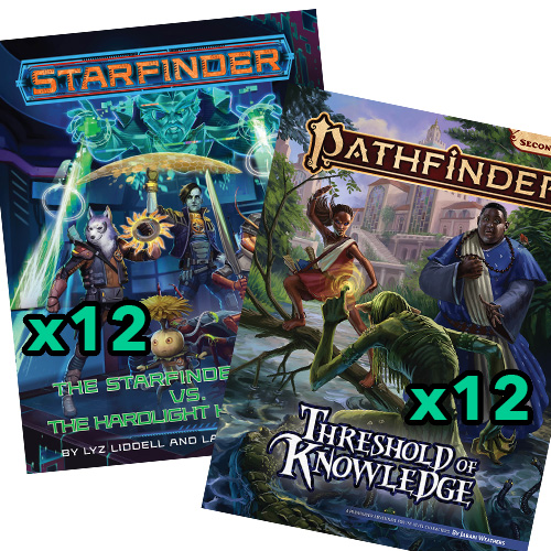 The Starfinder Four vs. The Hardlight Harlequin & Threshold of Knowledge